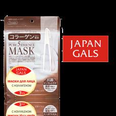 Маска для лица Japan Gals с коллагеном Pure5 Essential 7 шт