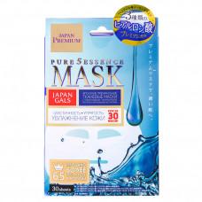 Маска для лицa Japan Gals Pure5 Essence Premium c тремя видами гиалуроновой кислоты 30 шт.