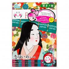 SunSmile Art Маска для лица с зеленым чаем и рисунком «Японская принцесса», 1 шт