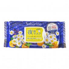 "Saborino Экспресс маска для лица тканевая ночная ""Успей за 60 секунд"" 28 шт"