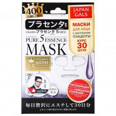 Маска для лицa Japan Gals c плацентой Pure5 Essential 30 шт