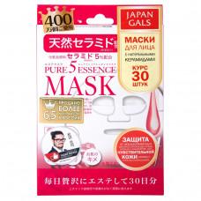Маска для лицa Japan Gals с натуральными керамидами Pure5 Essential 30 шт