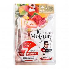 Маска для лица Japan Gals с экстрактами 10 фруктов Pure5 Essential 7 шт