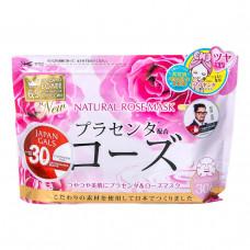 Курс натуральных масок для лица Japan Gals с экстрактом розы, 30 шт.